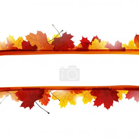 Illustration for Vector Illustration of colorful Autumn Leaves - Royalty Free Image