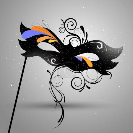 Illustration pour Illustration vectorielle d'un beau masque vénitien - image libre de droit