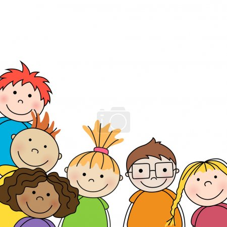Illustration for Vector Illustration of Small Kids - Royalty Free Image