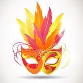 Vector Illustration of a Festive Carnival Mask