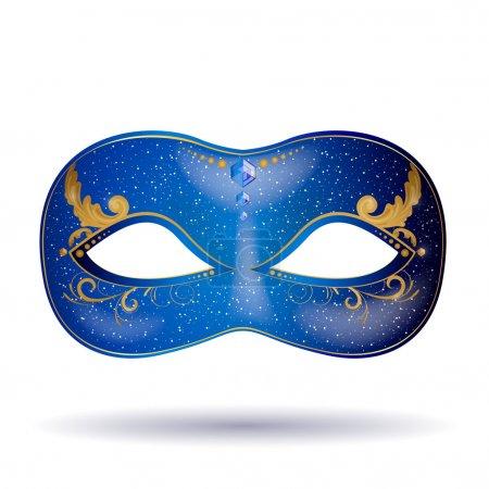 Illustration pour Illustration vectorielle d'un masque de carnaval orné - image libre de droit