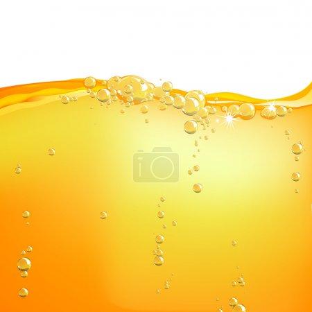 Illustration pour Illustration vectorielle de l'eau orange - image libre de droit