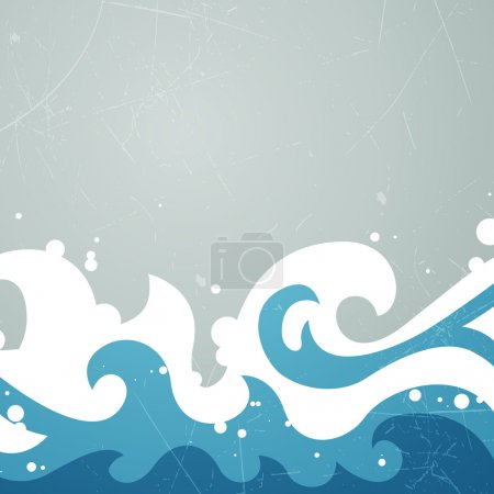 Illustration for Vector Illustration of an Abstract Summer Background - Royalty Free Image