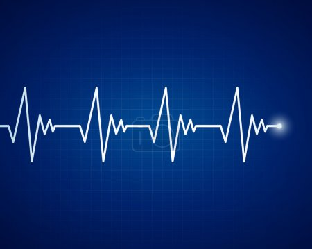 Illustration for Vector Illustration of a Cardiac Frequency - Royalty Free Image