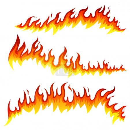 Illustration for Vector Illustration of Fire Elements - Royalty Free Image