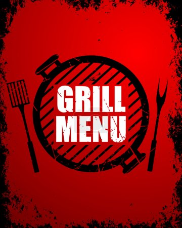Illustration for Vector Illustration of a Grill Menu Design Template - Royalty Free Image