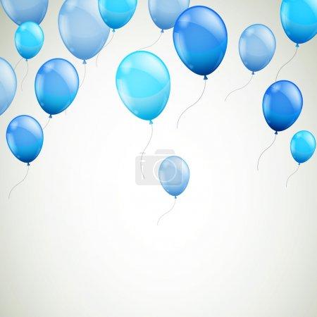 Illustration pour Illustration vectorielle d'un fond abstrait avec des ballons bleus - image libre de droit