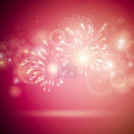 Illustration pour Illustration vectorielle de feux d'artifice colorés - image libre de droit
