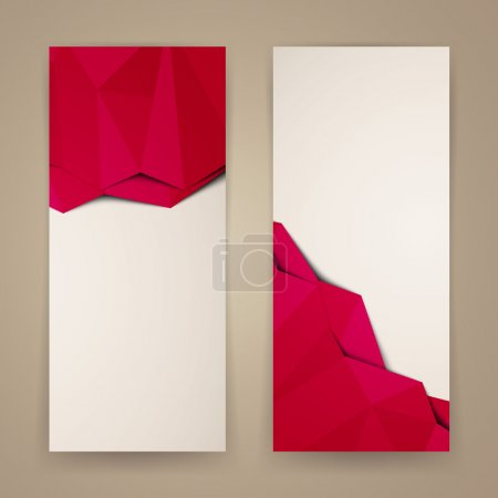 Illustration pour Illustration vectorielle de bannières abstraites - image libre de droit