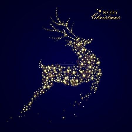 Illustration pour Illustration vectorielle d'un renne de Noël décoratif - image libre de droit