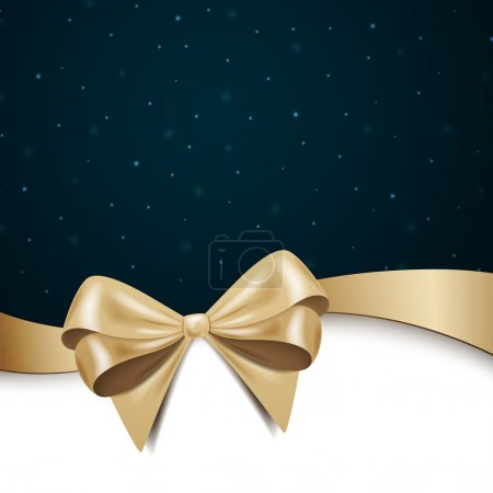 Illustration for Vector Illustration of a Christmas Background with Ribbon - Royalty Free Image