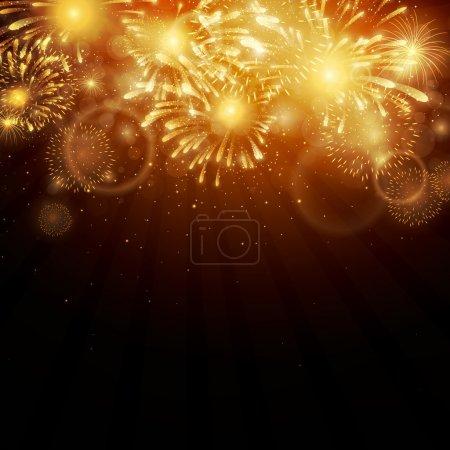 Illustration pour Illustration vectorielle de feux d'artifice - image libre de droit