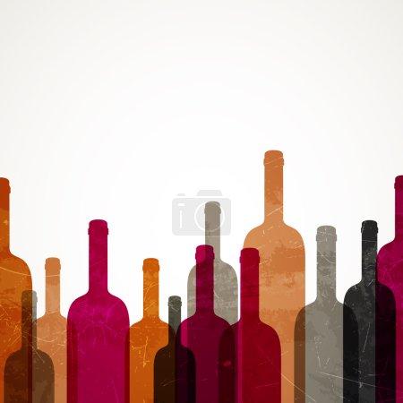 Illustration pour Illustration vectorielle d'un fond de vin abstrait - image libre de droit