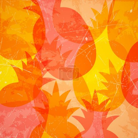 Vector Background with Pineapples