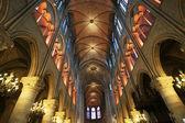 The interior of the Notre Dame de Paris, France