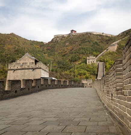 Photo for View of one of the most scenic sections of the Great Wall of China, north of Beijing - Royalty Free Image