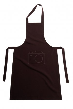 Photo for Brown apron isolated on white background - Royalty Free Image