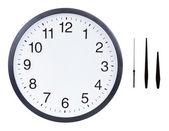 Quadrante bianco orologio con ore, minuti e secondi