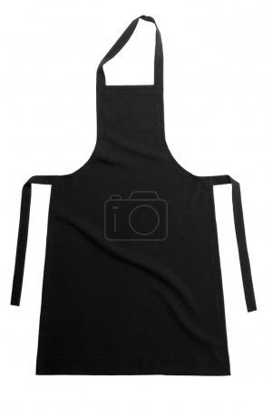 Photo for Black apron isolated on white background - Royalty Free Image