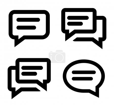 Chat icon set