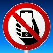 High-detailed vector road sign prohibits cell phon...