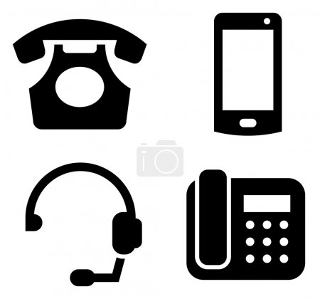 Communication devices icon set