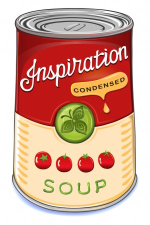 Illustration for Can of condensed tomato soup Inspiration isolated on white background - Royalty Free Image