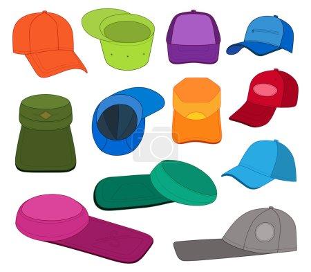 Cap template colored set