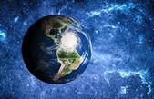 Bouře v Karibském moři z vesmíru