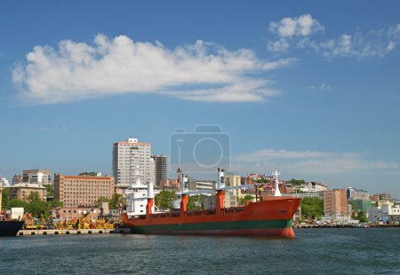 Panorama of Vladivostok city