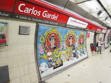 Carlos Gardel Subway Station in Buenos Aires, Arge...