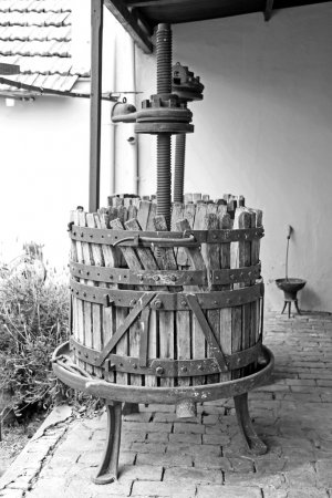 Old wooden wine press