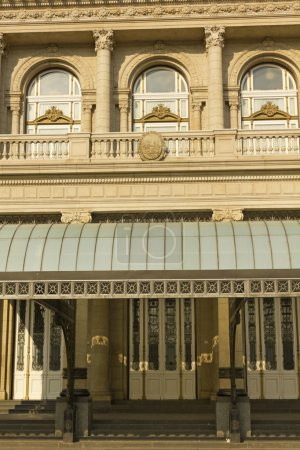 Columbus Theatre facade on 9 de julio Avenue at Bu...