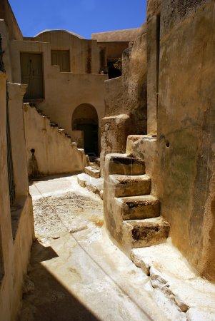 Traditional Greek architecture of Oia village on Santorini islan