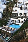 řecké tradiční architektura v santorini island, Řecko