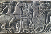 Greek ancient alike plaque at Great Alexander monument at Thessa