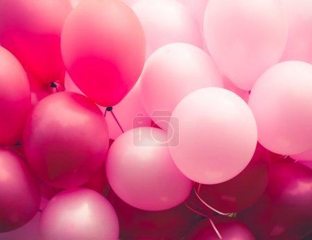Photo pour Ballons rose fond - image libre de droit