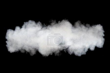 Smoke cloud background on black