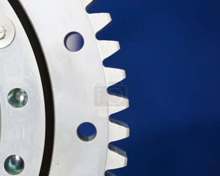 part of gears, blue background