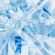 Abstract blue background of crystal refractions...