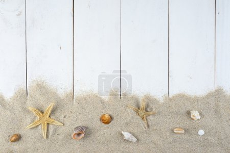 Summer holidays white background with a space for ...