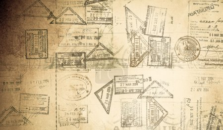 Photo pour Passeport fond - image libre de droit