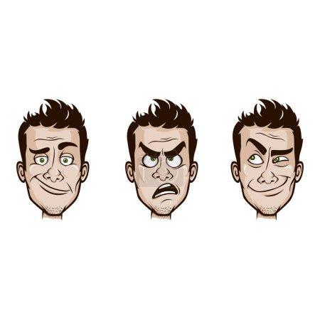 Man Emotions Set