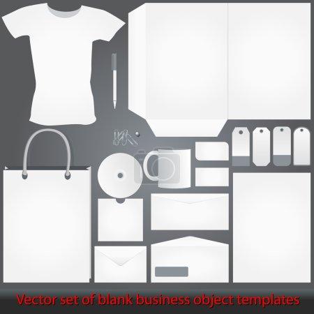 Illustration pour Vector illustrations modèles entreprise blanc, blanc élégant et détaillé - image libre de droit
