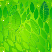 Seamless beautiful green leaves background