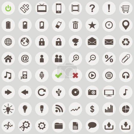 große Anzahl von Web-Icons im Retro-Stil