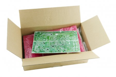 Cardboard box and soft packaging vesiculate film f...
