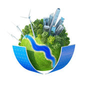 Eco City concept.