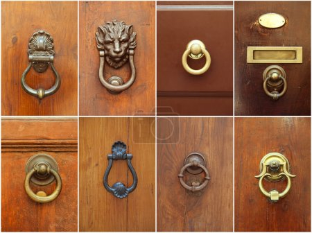 Door handles set. Different vintage door handles collection
