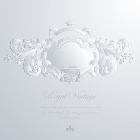 Vintage elegant greeting card & Wedding invitation template. Vector. Editable.